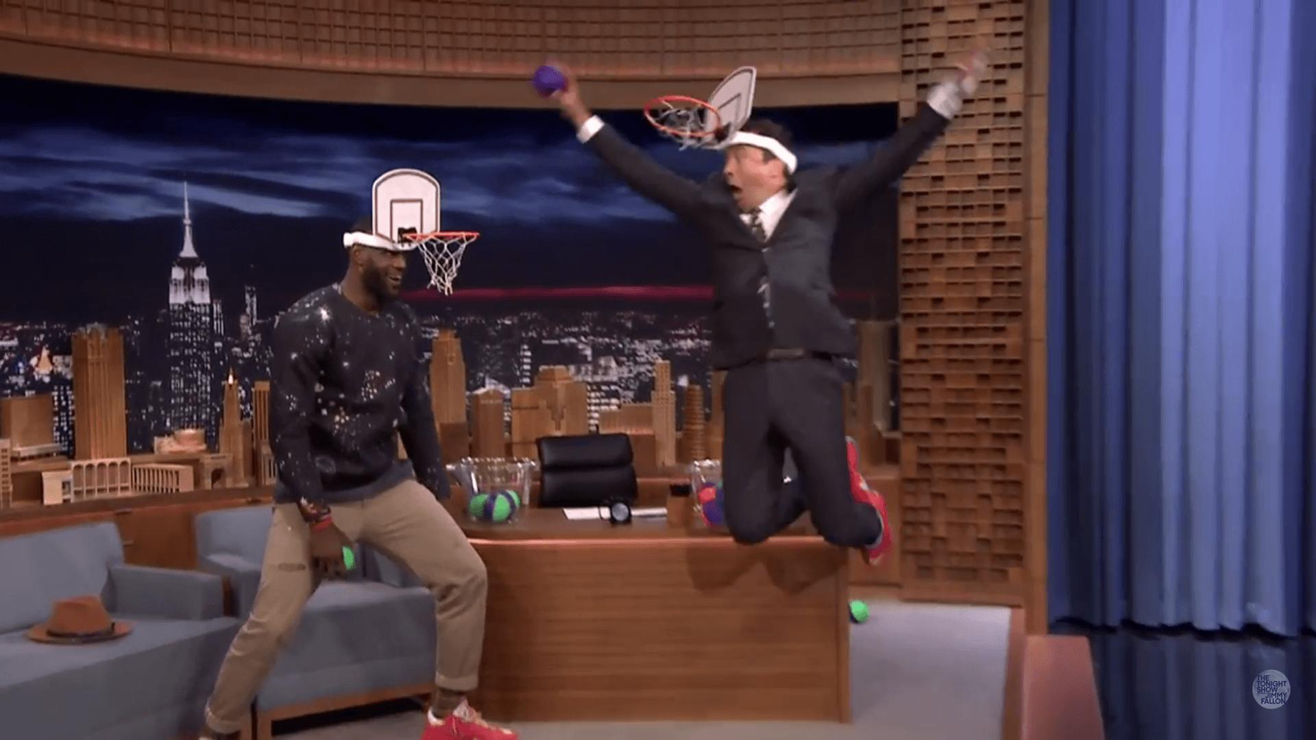 VIDEO: LeBron James, Jimmy Fallon Play Faceketball On The ...