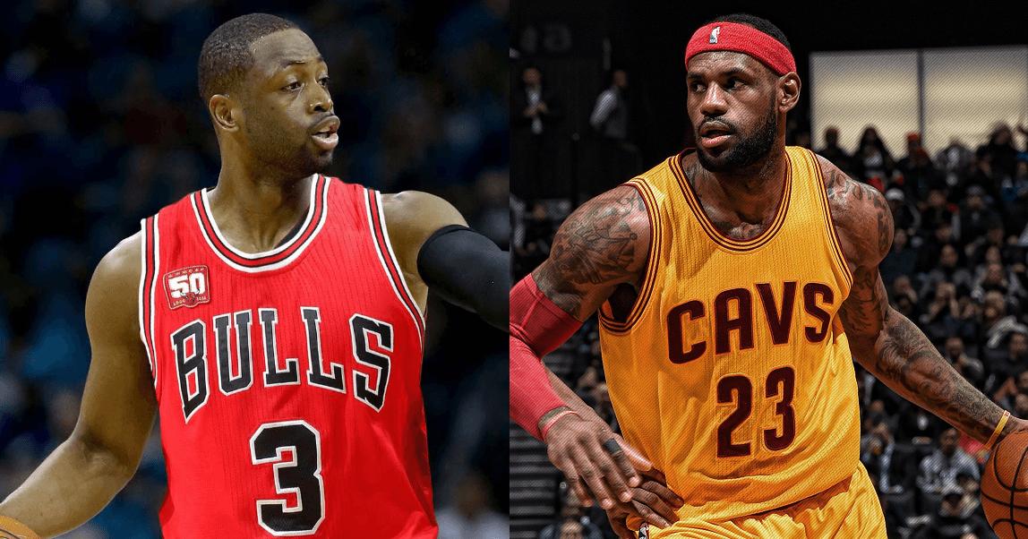 Cavs Bulls Preseason LeBron Wade