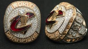 Cavs Championship Ring Close Up