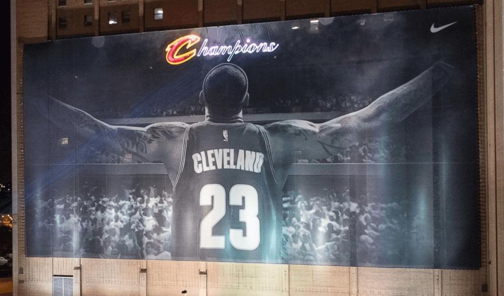 LeBron Championship Mural