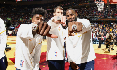 LeBron James Kevin Love Iman Shumpert Ring