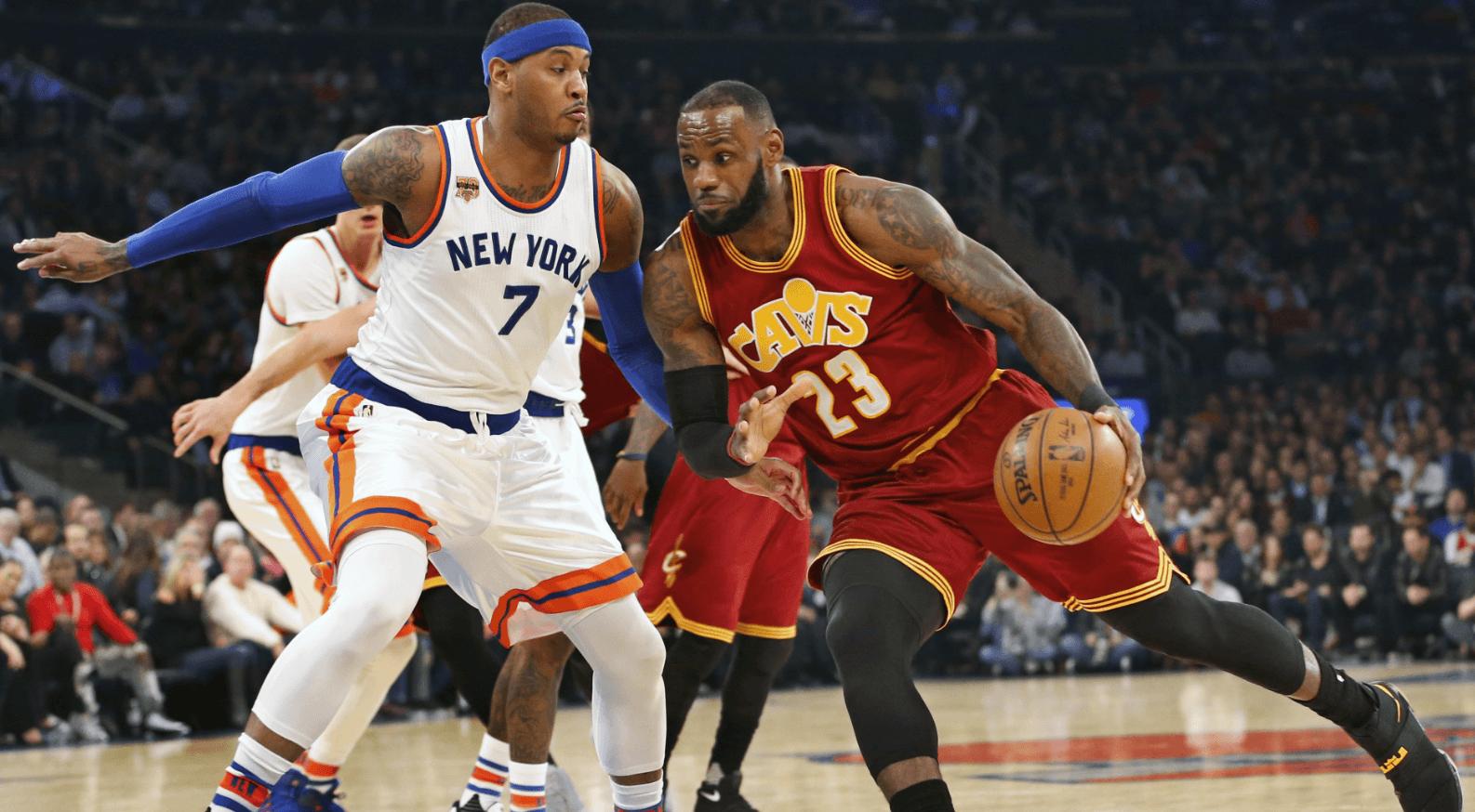 LeBron Cavs 3 Point Record Knicks