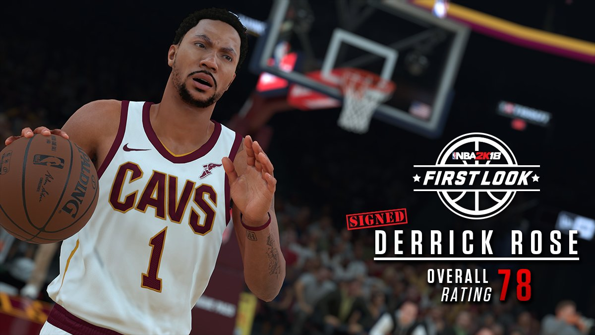 Derrick Rose 2k18 rating