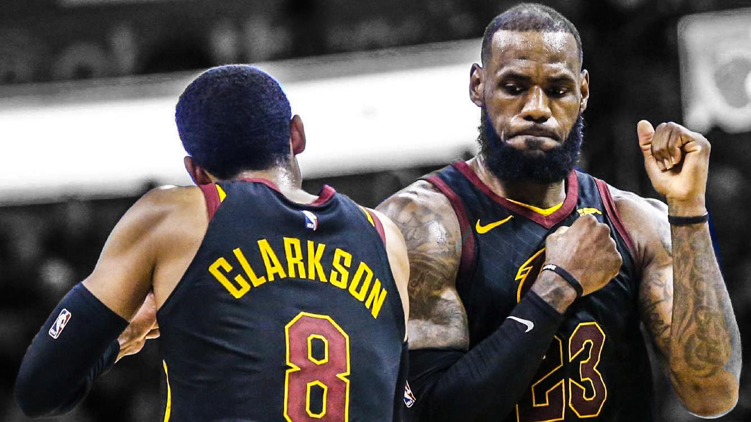 LeBron James, Jordan Clarkson