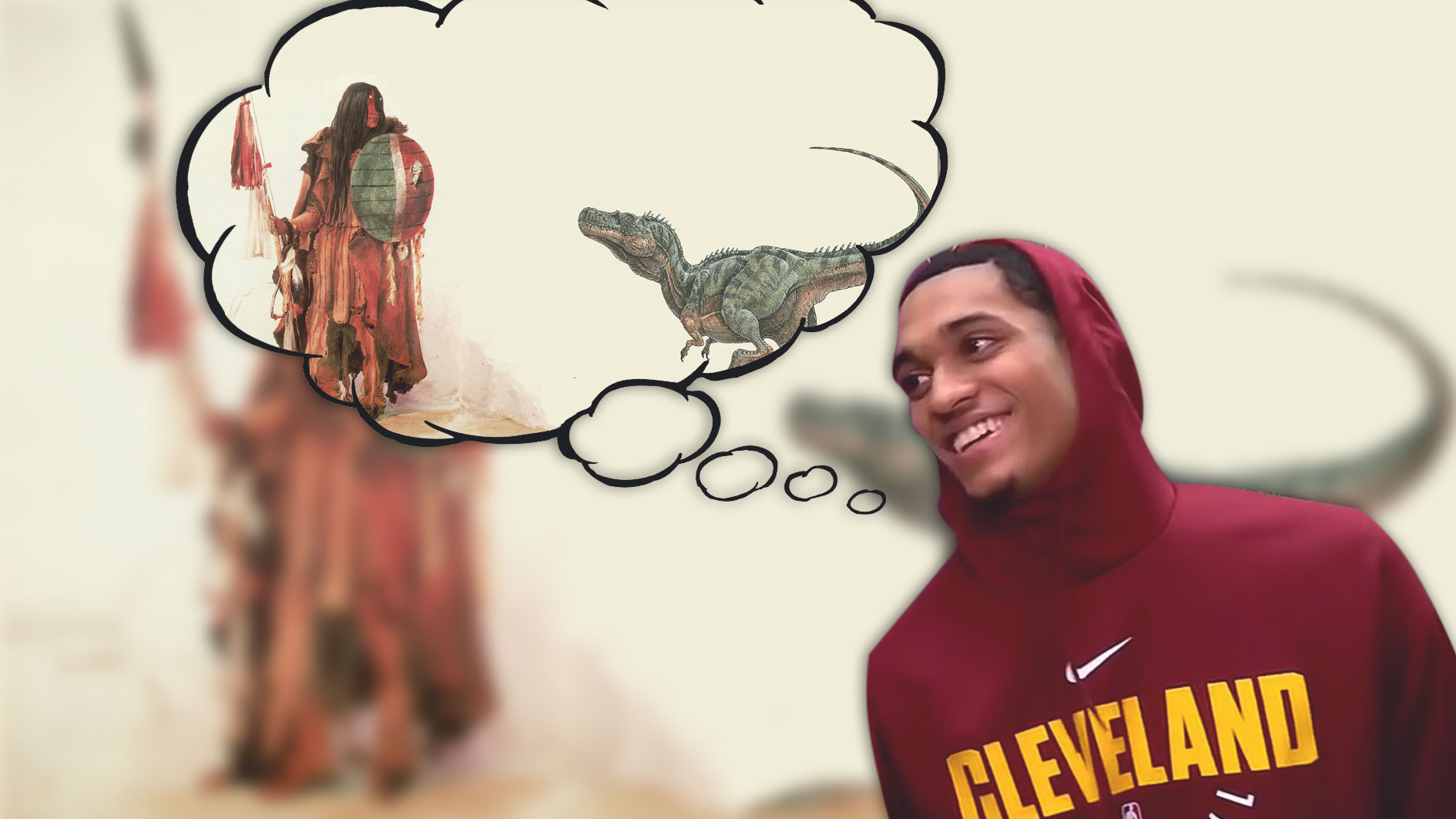 Jordan Clarkson Thinks Dinosaurs Were The Pets of 'Bigger People'