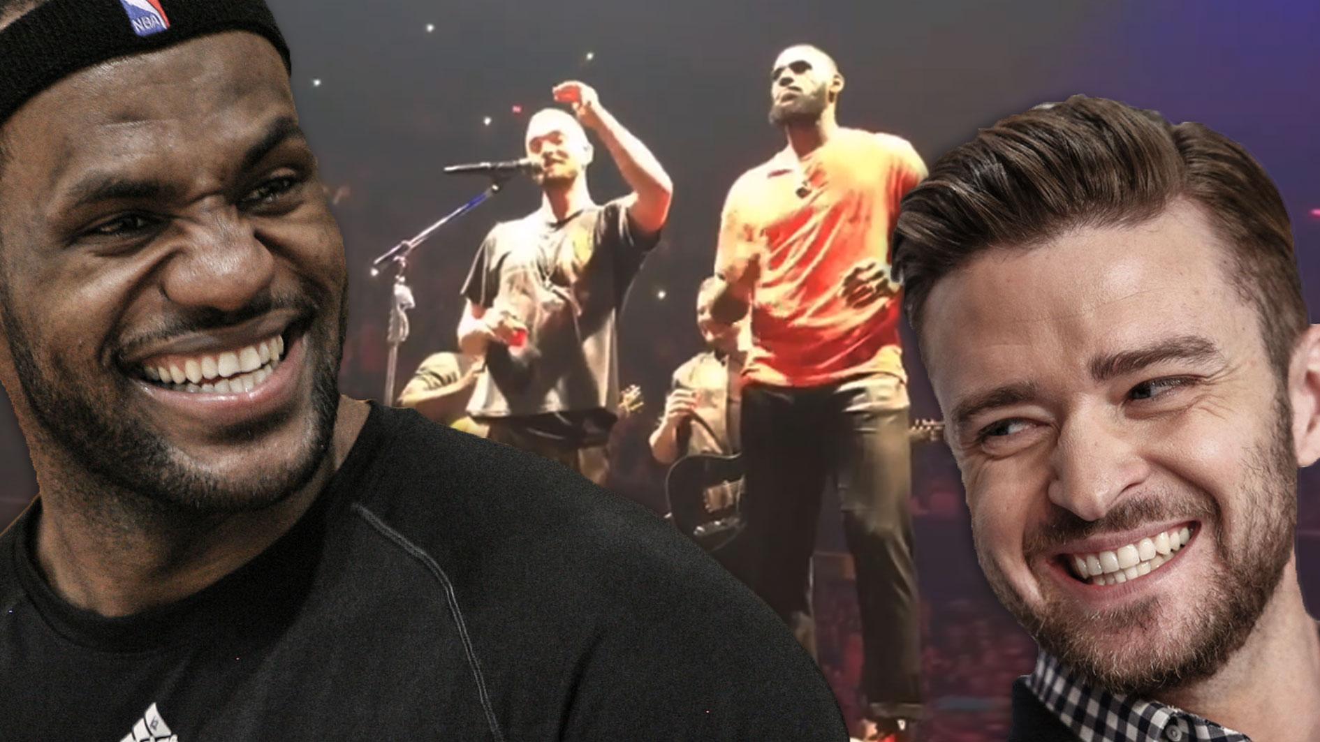 LeBron James, Justin Timberlake