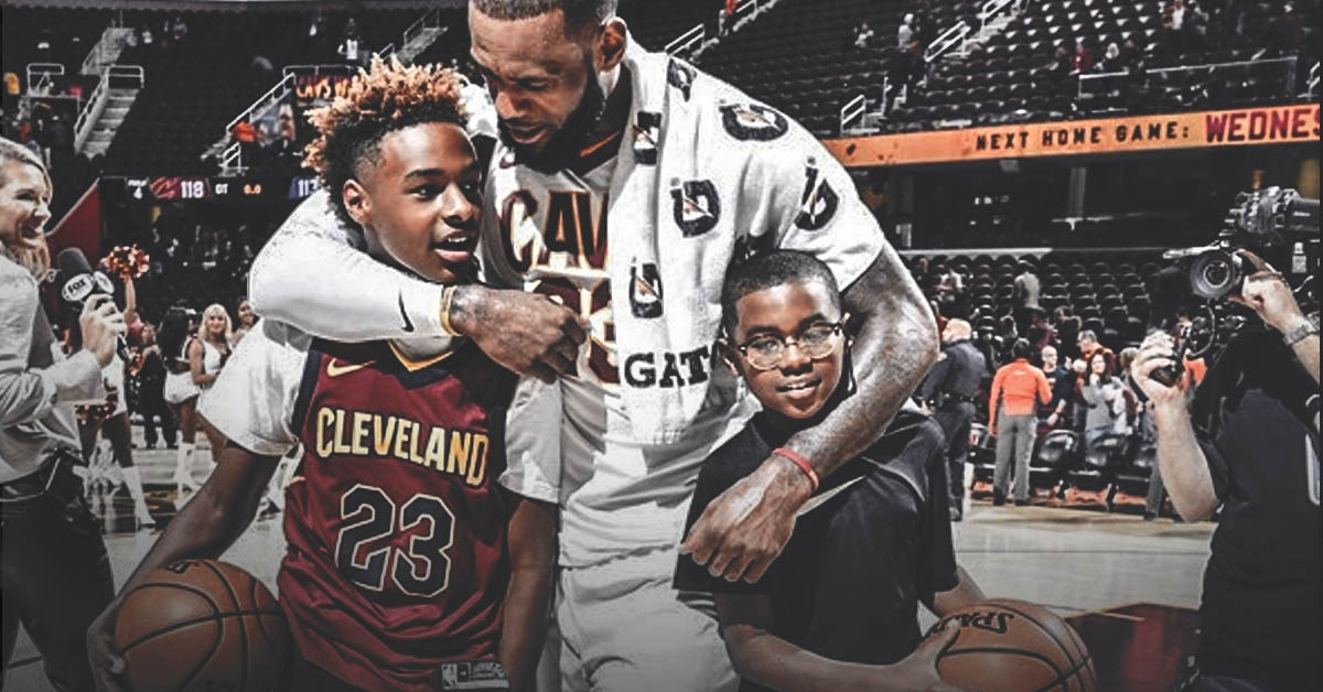 LeBron James, LeBron Jr., Bryce