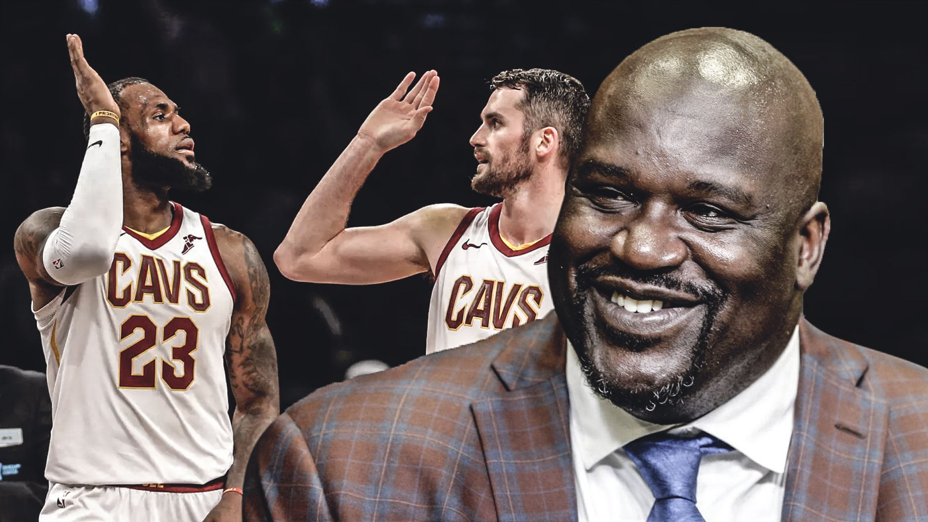 Shaquille O'Neal, LeBron James, Kevin Love