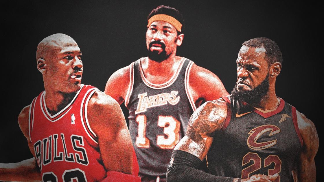 Wilt Chamberlain, LeBron James, Michael Jordan