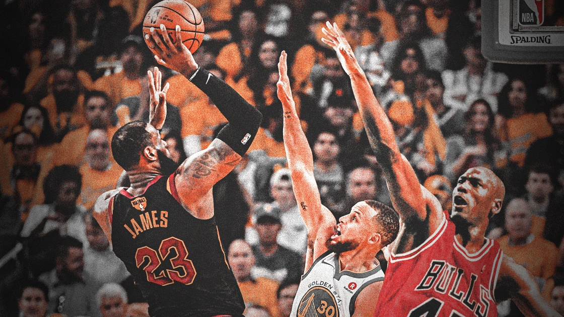 LeBron James, Stephen Curry, Michael Jordan