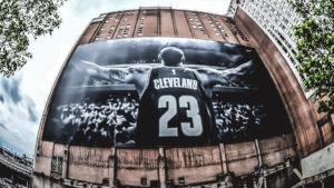 LeBron James banner