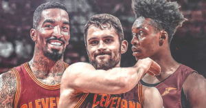 Kevin Love, Collin Sexton, J.R. Smith
