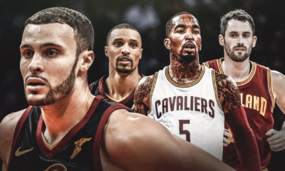 Larry Nance Jr., J.R. Smith, Kevin Love, George Hill