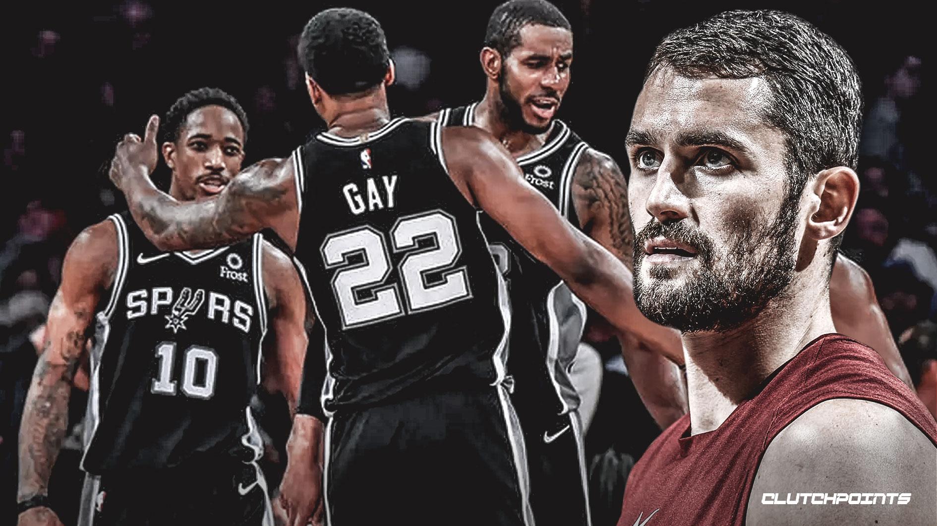Kevin Love, Cavs, Spurs