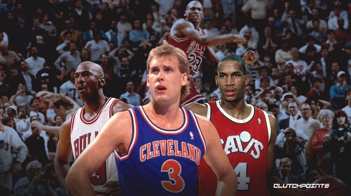 Michael Jordan, Craig Ehlo, Ron Harper, Cavs