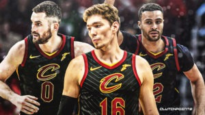 Cedi Osman, Larry Nance Jr., Kevin Love, Cavs